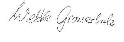 Unterschrift Wiebke Grauerholz